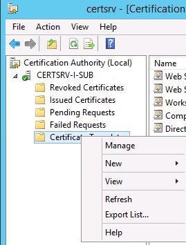 certsvc-templates-manage